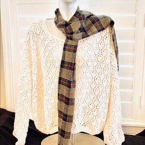 Earthbound oversized sweater with scarf